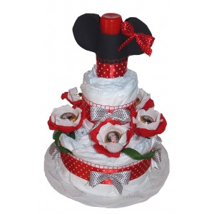 Tortulet din scutece Minnie Red