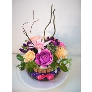 Tort cu flori si ciocolata