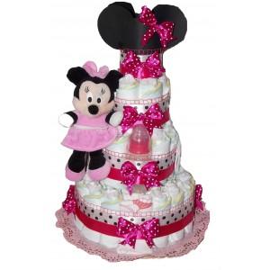 Tort din scutece Minnie Mouse