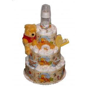 Tort din scutece Winnie &Friends