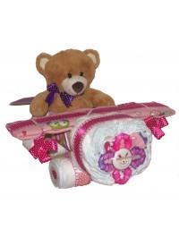 Avion roz din scutece