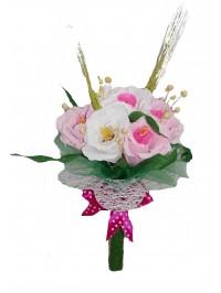 buchet de mana roz
