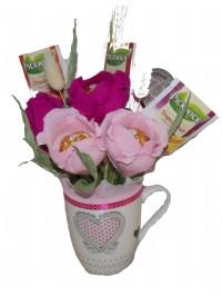 Cadou cu ceai si flori dulci