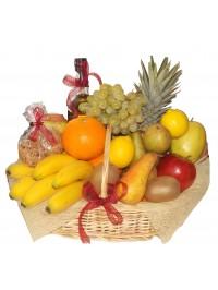 Cos cadou Fruit Mix cu vin