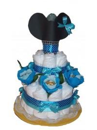 Tort din scutece Mickey blue