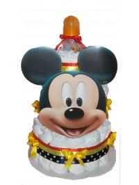 Tort din scutece Mickey Face