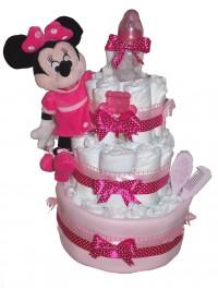 Tort din scutece Pink Minnie